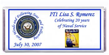 Retirement Navy Candy Bar
