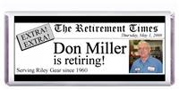 Retirement Newspaper Candy Bar