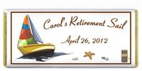 Retirement Sailboat Candy Bar