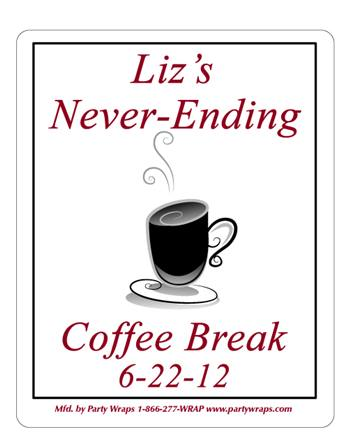 Retirement Coffee Cup Label