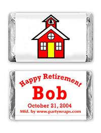 Retirement Miniature Candy Bars - Graphic