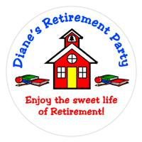 Retirement Schoolhouse Label