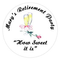 Retirement Champagne with Rose Lollipop