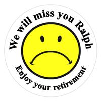 Retirement Sad Face Label