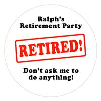 Retirement Stamp Lollipop