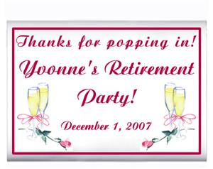 Retirement Champagne with Rose Popcorn