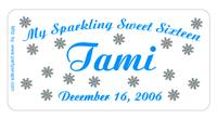 Sweet 16 Snowflakes Stars Label