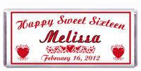 Sweet 16 Red Hearts Candy Bar