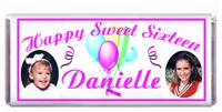 Sweet 16 Photo Balloon Streamers Candy Bar