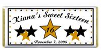 Sweet 16 Stars Candy Bar