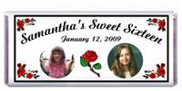 Sweet 16 Photo Rose Candy Bar