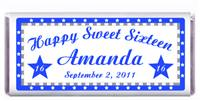 Sweet 16 Stars Border Candy Bar