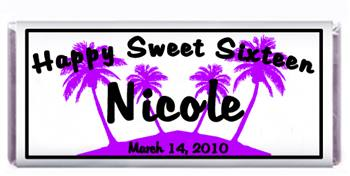 Sweet 16 Palm Trees Candy Bar