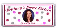 Sweet 16 Snowflakes Photo Candy Bar