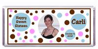 Sweet 16 Polka Dots Photo Candy Bar