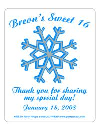 Sweet 16 Snowflakes Label