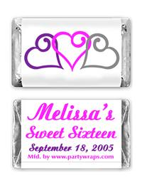 Sweet 16 Miniature Candy Bars - Graphic