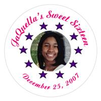 Sweet 16 Photo & Stars Label