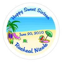Sweet 16 Beach Label