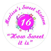 Sweet 16 Burst Label