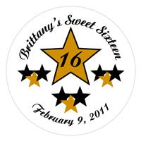 Sweet 16 Star Label