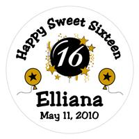 Sweet 16 Burst & Star Balloons Lollipop