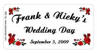 Wedding Rose Corners Label