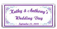 Wedding Purple Teal Roses Candy Bar