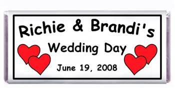 Wedding Double Heart Candy Bar