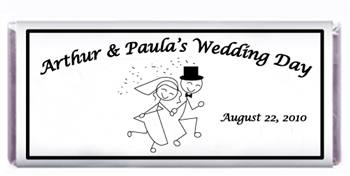 Wedding Stick Figure Bride & Groom Candy Bar