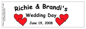 Wedding Double Hearts Water Bottle Labels