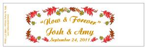 Wedding Fall Leaves Water Bottle Labels