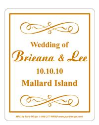 Wedding Scroll Label