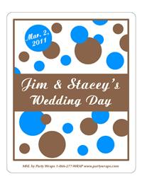 Wedding Polka Dots Label