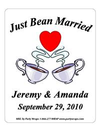 Wedding Coffee Cups Label