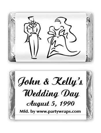 Wedding Miniature Candy Bars - Graphic