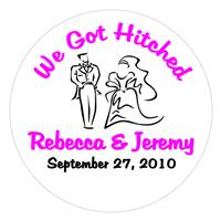 Wedding Bride & Groom Label