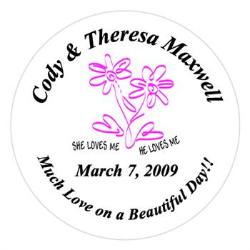 Wedding Daisy Label