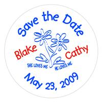 Wedding Save The Date Label