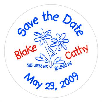 Wedding Save The Date Lollipop