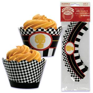 Race Car Cupcake Wrapper