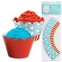 Patriotic Cupcake Wrapper