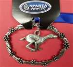 Pewter Christmas Racing Dog Ornament