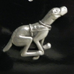 Pewter Lapel pin Racing greyhound