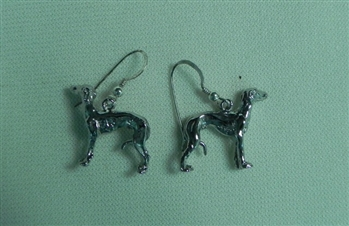 Standing Greyhound Hoop Earrings