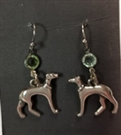 Standing Birthstone Greyhound Shepherd Hook Earrings