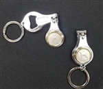 Irish Coin combination Travel Clipper/opener, key ring