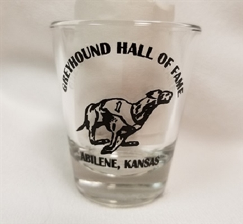 Greyhound Hall of Fame Shot Glass