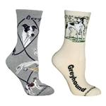 Cream greyhound Socks