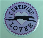 Large Certified Greyhound Lover